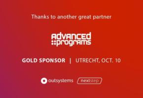 Advanced Programs Gold Sponsor bij het NextStep evenement van OutSystems