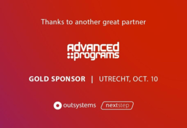 Advanced Programs Gold Sponser NextStep OutSystems