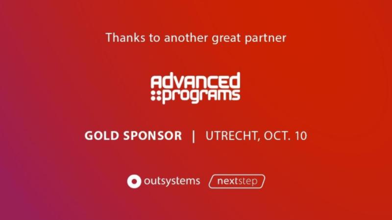 Advanced Programs Gold Sponser NextStep OutSystems